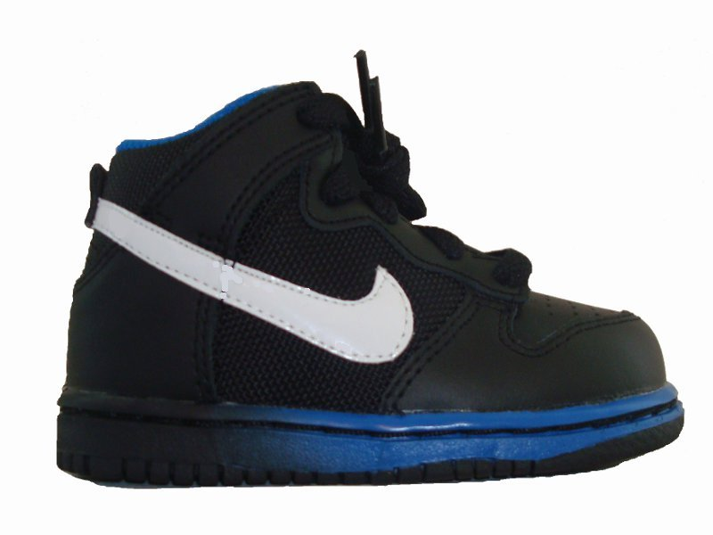 nike dunk chaussure montante pour b b tr s petit gar on. Black Bedroom Furniture Sets. Home Design Ideas